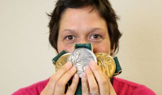 Schwimm-Star Sandra Völker hat Grund zur Freude: Ihr Insolvenzverfahren ist vorzeitig beendet und sie ist inzwischen schuldenfrei. (Foto)
