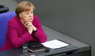 Sie verliert an Zustimmung: Kanzlerin Angela Merkel. (Foto)