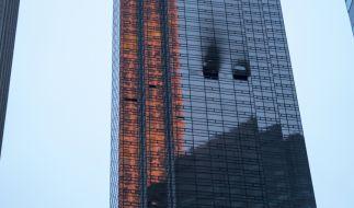 Im 50. Stockwerk des Trump Towers an der New Yorker 5th Avenue ist am Samstag (Ortszeit) ein Feuer ausgebrochen. (Foto)