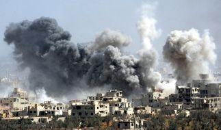 In Ost-Ghuta, Syrien, tobt der Krieg. (Foto)