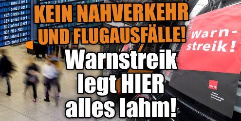 Warnstreiks an Flughäfen im News-Ticker