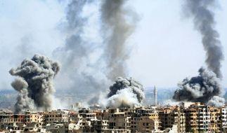 Nach dem Giftgasangriff auf die syrische Stadt Duma droht Donald Trump mit Vergeltung. (Foto)