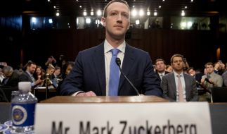 Mark Zuckerberg musste sich dem US-Kongress stellen. (Foto)