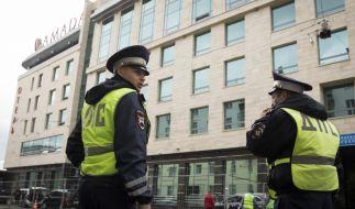 Russische Polizisten ermitteln. (Symbolbild) (Foto)