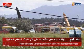 In Boufarik, Algerien ist ein Militärflugzeug abgestürzt. (Foto)