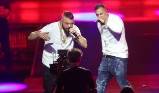 Farid Bang und Rapper Kollegah hatten den letzten Live-Auftritt des Abends. (Foto)
