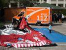 Bei einem Unglück auf einem Fest in Berlin-Hellersdorf sind am Sonntag 13 Kinder verletzt worden. (Foto)
