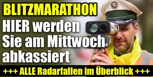 Blitzmarathon heute
