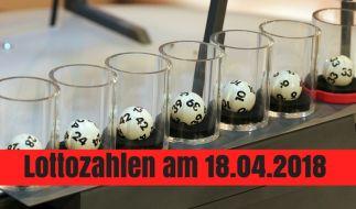 Lottozahlen am 18.04.2018: Gewinnzahlen, Jackpot, Quoten beim Lotto am Mittwoch. (Foto)