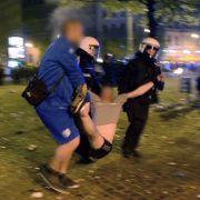 Fußball-Chaoten zerlegen Magdeburger Kneipenmeile (Foto)