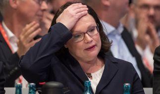 Mit 66 Prozent wurde Andrea Nahles zur neuen SPD-Vorsitzenden gewählt. (Foto)