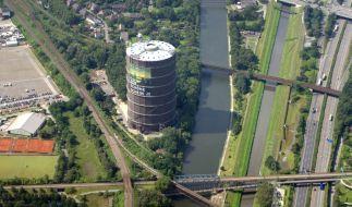 Luftaufnahme des Rhein-Herne-Kanals aus dem Jahre 2014. (Foto)