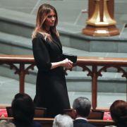 Melania Trump bei der Beerdigung.