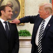 Frankreichs Präsident Emmanuel Macron ist zu Besuch im Weißen Haus.