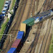 Entgleist! Güterzug-Unglück in München (Foto)