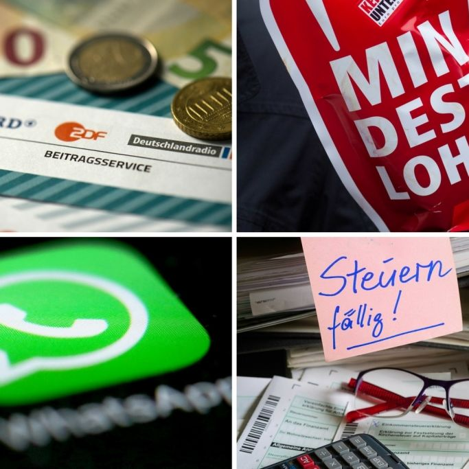 Gesetzesänderungen aktuell bei DSGVO, Mindestlohn, GEZ-Gebühr und WhatsApp (Foto)