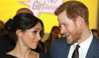 Meghan Markle und Prinz Harry freuen sich auf die Hochzeit. (Foto)