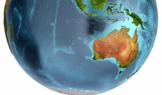 Australien auf dem Globus - doch gibt es den fünften Kontinent in Wirklichkeit gar nicht? (Foto)