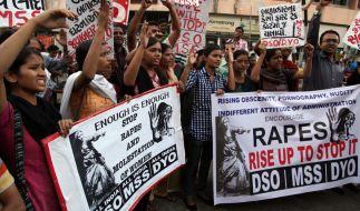 Immer wieder gibt es in Indien Proteste gegen Vergewaltigungen. (Foto)