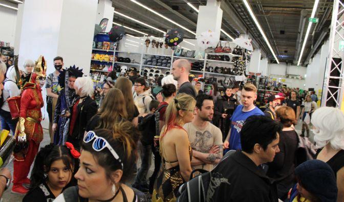 """Am Samstag war es ganz schön voll auf der """"German Comic Con Frankfurt 2018"""". (Foto)"""