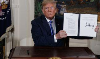 Donald Trump beendet den Deal mit dem Iran. (Foto)