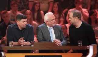 """Tim Mälzer, Wolfgang Kubicki und Smudo (von links) sind unter anderem die Gäste bei """"Da kommst du nie drauf"""". (Foto)"""