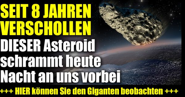 Asteroid Heute Live