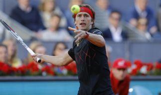 Alexander Zverev startet nach seinem Sieg beim Tennis-Turnier in Madrid auch bei den ATP Rome Masters 2018. (Foto)