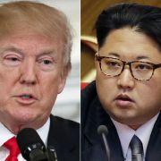 US-Präsident Donald Trump und der Nordkoreas Staatschef Kim Jong Un. (Foto)