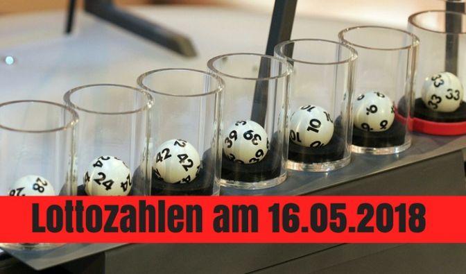 Die Lottozahlen zum Lotto am Mittwoch am 16.05.2018.