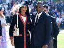 Idris Elba und Sabrina Dhowre kommen an der St. Georgs Kapelle an. (Foto)