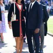 Idris Elba und Sabrina Dhowre kommen an der St. Georgs Kapelle an.