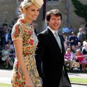 James Blunt and Sofia Wellesley kommen zur St. Georgs Kapelle.