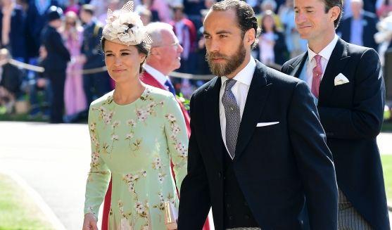 Pippa Middleton und James Middleton kommen zur St.-Georgs-Kapelle.