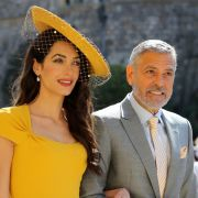 Amal Clooney and George Clooney kommen zur St.-Georgs-Kapelle.