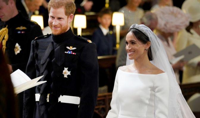 Prinz Harry und Meghan Markle während der Trauung.