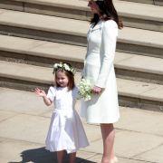 Herzogin Kate mit ihrer Tochter Prinzessin Charlotte.