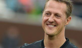 Michael Schumacher besuchte die Fußball-Nationalmannschaft 2006. (Foto)