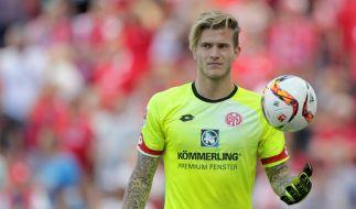 Torwart Loris Karius - hier noch im Trikot des 1. FSV Mainz 05 - steht heute beim FC Liverpool in der englischen Premier League unter Vertrag. (Foto)