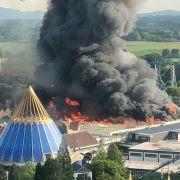 """Feuer-Inferno im Vergnügungspark verursacht """"zweistelligen Millionenschaden"""" (Foto)"""