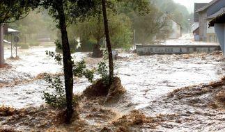 Schwere Unwetter sorgten am Sonntag für Katastrophenalarm in einigen Teilen Deutschlands. (Foto)