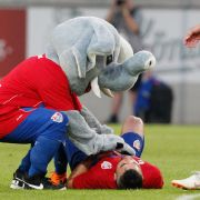 Uerdingens Maskottchen Grotifant in Action!