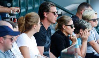 Gavin Rossdale und Sophia Thomalla besuchten gemeinsam ein Tennis-Turnier in den Staaten. (Foto)