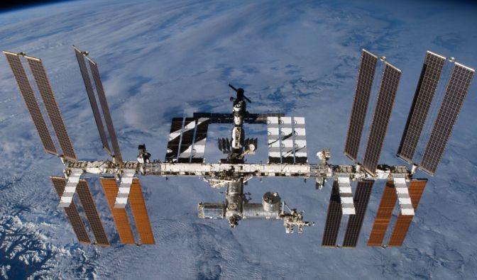 ISS-Raumstation beobachten