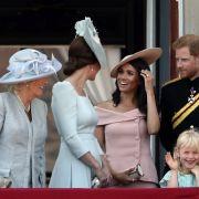 Herzogin Kate und Herzogin Meghan haben sichtlich ihre Freude.