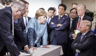 Beim G7-Gipfel sorgte Donald Trump für einen Eklat. (Foto)
