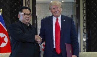 Bei einem Gipfeltreffen haben Kim Jong Un und Donald Trump eine gemeinsame Erklärung unterzeichnet. (Foto)