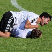 Ilkay Gündogan und Marco Reus beim Training.