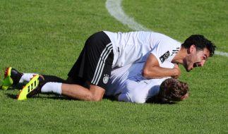 Ilkay Gündogan und Marco Reus beim Training. (Foto)