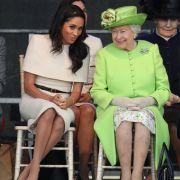 Die 92 Jahre alte Queen und Meghan (36) zeigten sich bestens gelaunt.